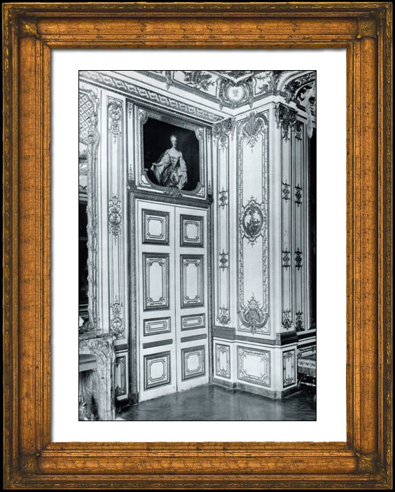gravures anciennes porte chambre coucher du roi louis xv ch teau de versailles. Black Bedroom Furniture Sets. Home Design Ideas