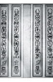 Decoration - Pilaster - Bois Peint et Doré - XVIIIème Siècle - Pavillon de Louveciennes - Comtesse du Barry (Guibert sculpteur)