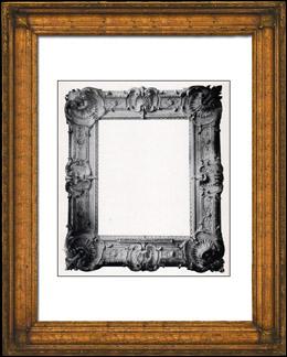 gravures anciennes gravure de bordure de tableau en bois sculpt et dor travail fran ais. Black Bedroom Furniture Sets. Home Design Ideas