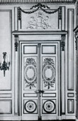 Decoration - Door - Carved Wood - Trumeau - Hotel d'Hallwill - Paris (Claude Nicolas Ledoux Architecte)