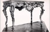 Antique Furniture - Console en Bois Sculpt� et Dor� - Ch�teau de Versailles - Louis XV (Andrieux de Benson)