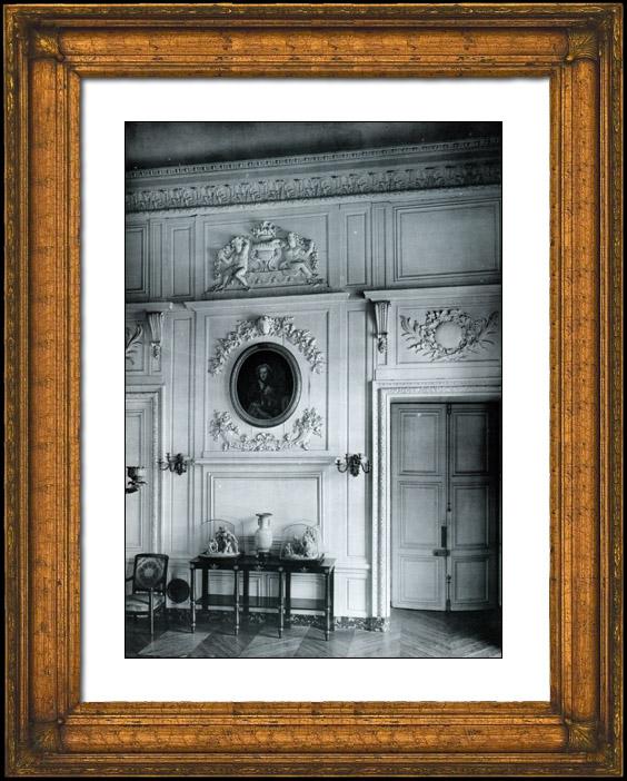 Gravures Anciennes & Dessins | Décoration - Corniche à Frise - Sculpture sur Bois - Portrait de la Reine Marie Leczinska - Louis XIV - Grand Trianon Versailles | Phototypie | 1894