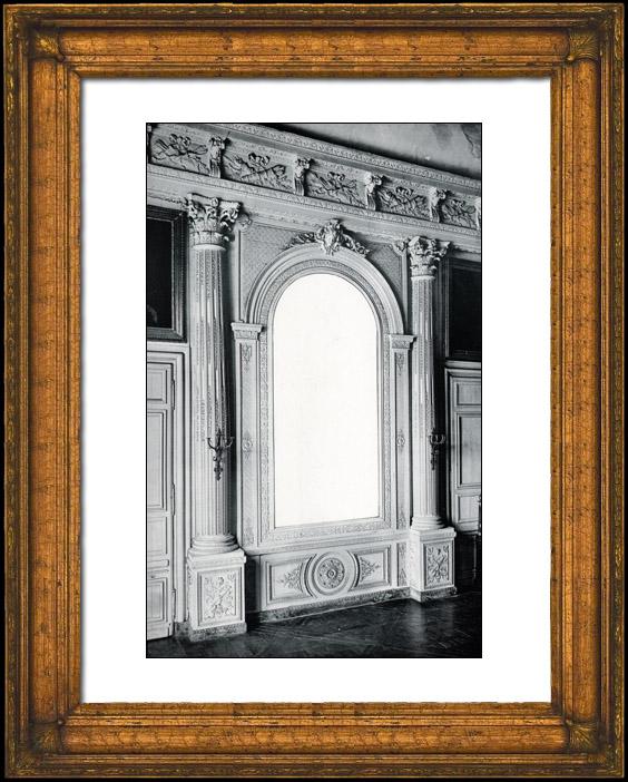 Antique Prints & Drawings | Mirror - Decoration - Mascaron - Columns - Corinthian Order - XVIIème Siècle - Grand Trianon - Château de Versailles | Phototypie | 1894