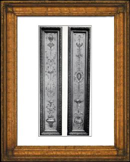 Dekoration - Arabeske - Cartouche - Corbeilles de Fleurs - Enfants - XVIIIème Siècle (Musée des Arts Décoratifs)