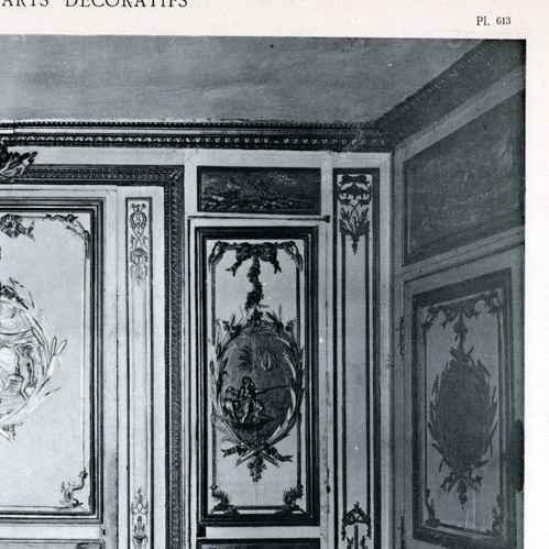 Antique prints print of decoration carved and golden for Salle de bain louis xv versailles