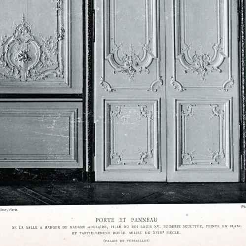 Gravures anciennes d coration porte bois sculpt 18 me si cle salle manger de madame - Porte salle a manger ...