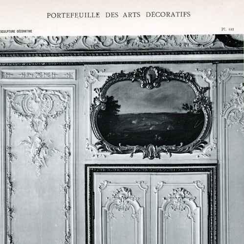 Gravures anciennes d coration porte bois sculpt for Decoration 18eme siecle