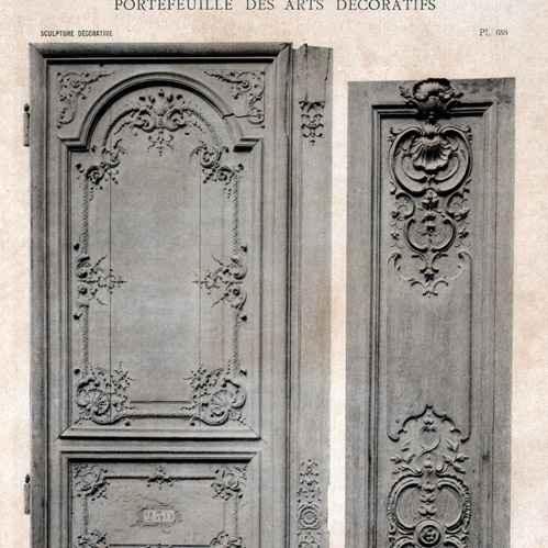 Gravures anciennes gravure de d coration porte bois for Decoration 18eme siecle