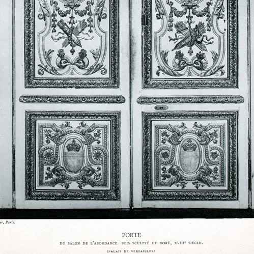 gravures anciennes d coration porte bois sculpt dor 18 me si cle salon de l. Black Bedroom Furniture Sets. Home Design Ideas