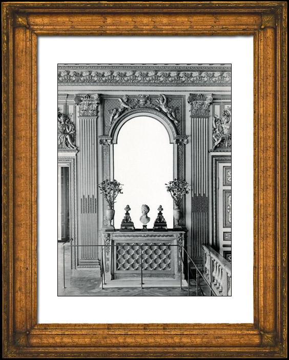 Stampe antiche focolare e specchio camera da letto - Letto versailles ...
