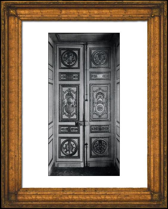 Antique prints print of decoration carved wood for Salle de bain louis xv versailles