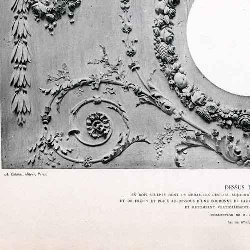 gravures anciennes d coration dessus de porte bois. Black Bedroom Furniture Sets. Home Design Ideas