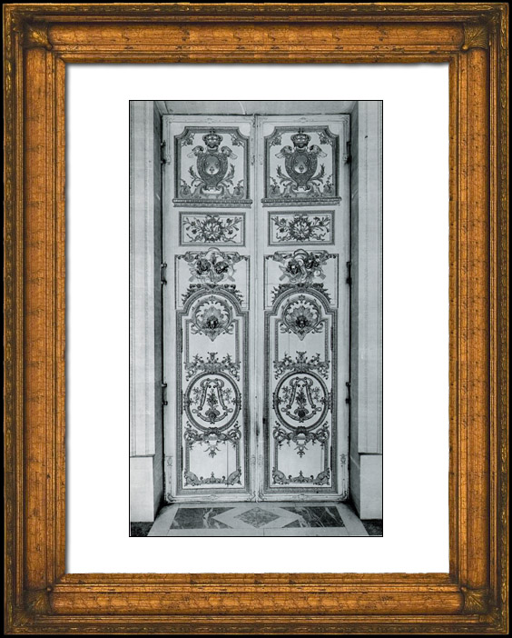 gravures anciennes porte du vestibule bois sculpt dor chapelle du chateau de versailles. Black Bedroom Furniture Sets. Home Design Ideas