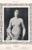 Grabado de Desnudo Femenino - Erotica - Curiosa - Afrodita - Venus en el Baño (Giulio Romano)