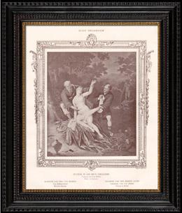 Weiblicher Akt - Erotica - Curiosa - Suzanna und die Zwei Greise (Frans van Mieris de Oudere)