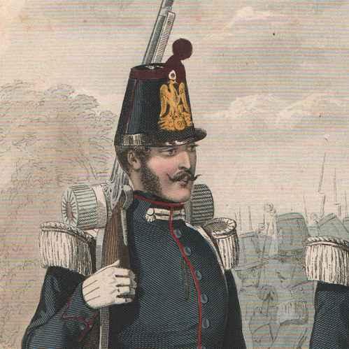 Antique Prints Napoleon Iii Infantry Second French
