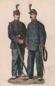 Napoleon III - French Artillery and Infantry - Garde Nationale Mobile - 1868 - Second French Empire - Military Uniform - French Costume