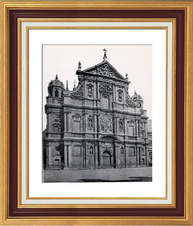 Gravures Anciennes & Dessins | Eglise Saint Charles Borromée à Anvers (Belgique) | Héliogravure | 1910