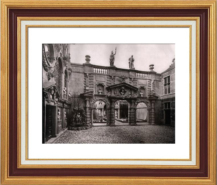 Gravures Anciennes & Dessins | Maison de Rubens - Anvers - Portique Baroque (Belgique) | Héliogravure | 1910
