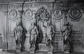 Confession�rio de Madeira de Carvalho - Igreja de Grimberghe (Henri Fran�ois Verbruggen Sculpteur)