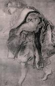 Sketch -  Drawing - Etude pour la Conversation à la Mode - The Garden of Love (Peter Paul Rubens)