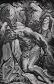 The Dead Jesus Christ Supported by Angels (Antoon Van Dyck - Van Caukercken)