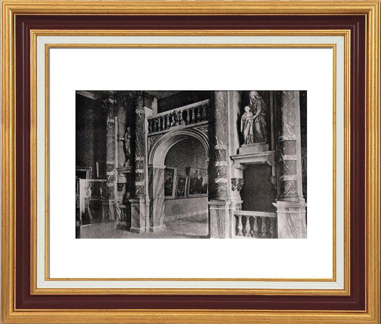 Grabados antiguos decoraci n sal nes palais de l 39 exposition bruselas heliograbado 1910 - Salones antiguos ...
