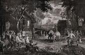 Gobel�ng - Sk�rd - Rentr�e de la Moisson (David Teniers)