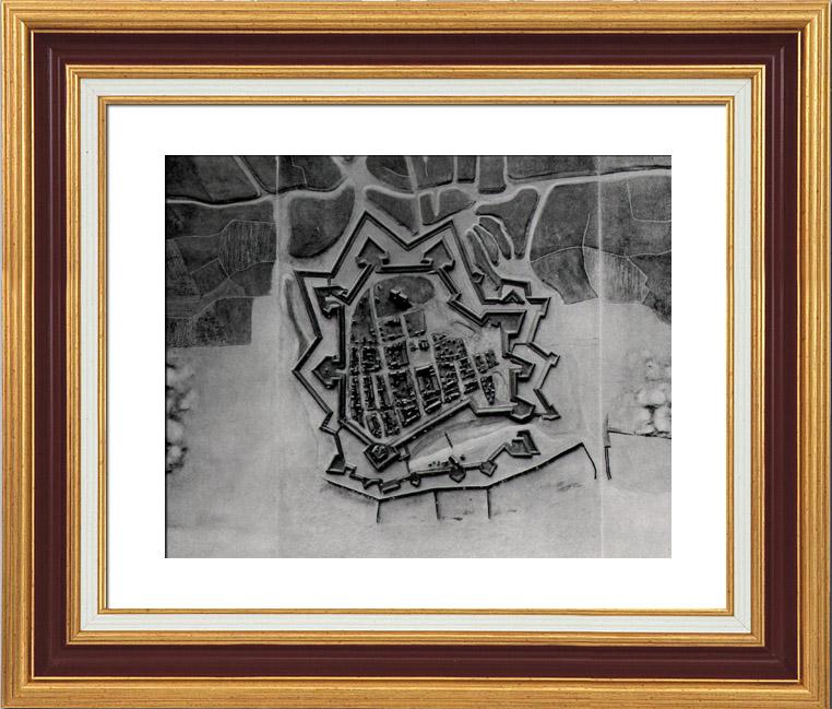 Gravures Anciennes & Dessins | Plan d'Ostende avant le Siège (1601) - Guerre de Quatre Vingts Ans - Révolte des Pays Bas | Héliogravure | 1910