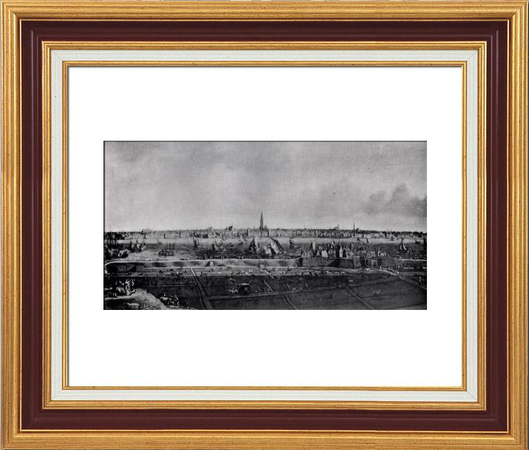 Gravures Anciennes & Dessins | Toile - Le port d'Anvers (Jean Baptiste Bonnecroy) - Musée d'Anvers | Héliogravure | 1910