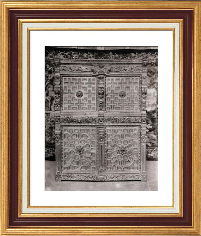 alte stiche antike m bel fl misch 1650 dressoir heliograv re 1910. Black Bedroom Furniture Sets. Home Design Ideas