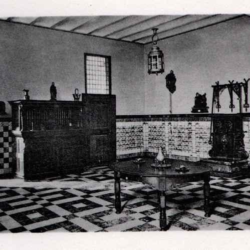 Antique prints nobility dwelling kitchen habitation patricienne noble - Maison romaine antique ...