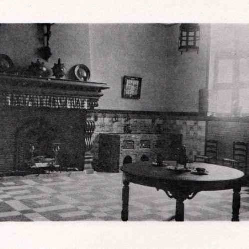 Antique prints nobility dwelling kitchen habitation - Cuisine romaine antique ...
