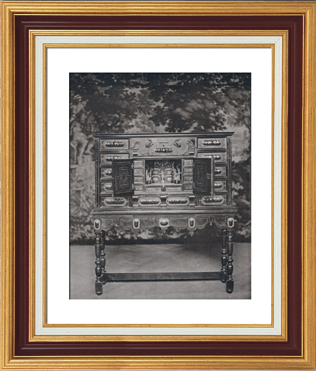 alte stiche antike m bel sekret r scriban en eb ne milieu du xvii me si cle bruxelles. Black Bedroom Furniture Sets. Home Design Ideas