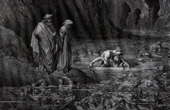 Dante's Hell 11 - Gustave Dor� - The Divine Comedy - Ugolino Gnawing the Head of Ruggieri