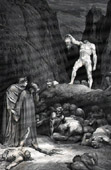 Dante's Hell 18 - Gustave Dor� - The Divine Comedy - The Severed Head of Bertran de Born Speaks