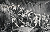 Dante's Hell 22 - Gustave Dor� - The Divine Comedy - The Thieves Tortured by Serpents - Art Nude