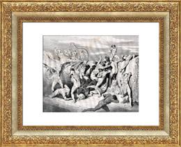 El Infierno de Dante 23 - Gustave Doré - La Divina Comedia - Tortura - Demonio - Diablo - Desnudo Masculino