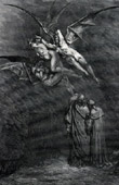 Dante's Hell 27 - Gustave Dor� - The Divine Comedy - Erinyes or Furies - The Harpies - Megaera - Tisiphone - Alecto