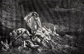 Dante's Hell 30 - Gustave Dor� - The Divine Comedy - Styx - Virgil Shows Dante the Souls of the Wrathful
