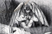 Dante's Hell 34 - Gustave Dor� - The Divine Comedy - Lucifer King of Hell