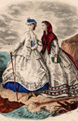 Fashion Plate - French Mode - 19th Century - Paris - Anais Toudouze