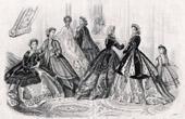 Fashion Plate - French Mode - 19th Century - Paris - Anais Toudouze - Le Conseiller Moral des Familles