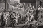 The Crowning of the Queen Marie de Medici in Saint Denis in front of the King Henry IV y Louis XIII (Peter Paul Rubens)