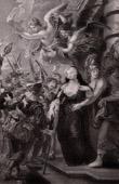 The Queen Marie de Medici Flees of the Ch�teau de Blois - Duke of Epernon - Minerva (Peter Paul Rubens)