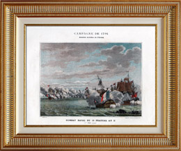 British Army vs French Army - Royal Navy - Naval Battle of Glorious First of June - Brittany - French Revolutionary Wars - 1794