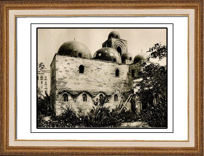 Antique Prints & Drawings | Church San Giovanni degli Eremiti - St. John of the Hermits - Palermo - Sicily (Italy) | Heliogravure | 1920