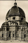 Florence Cathedral - Gothic style - Giotto's Bell Tower - Frescoes by Giorgio Vasari - Huge Clock Decorated by Paolo Uccello (Italy)