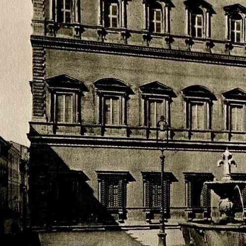 antique prints palazzo farnese in rome antonio da sangallo the younger michelangelo. Black Bedroom Furniture Sets. Home Design Ideas