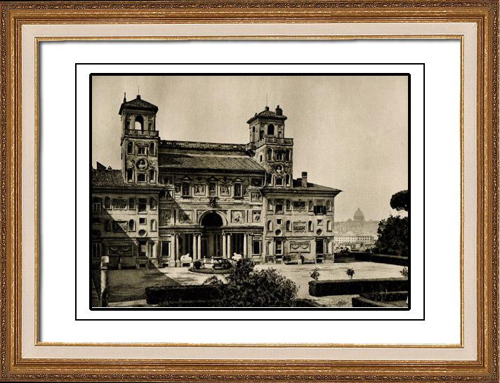 Gravures anciennes villa m dicis rome annibale lippi for Jardin villa medicis rome